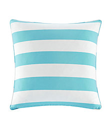 "Madison Park Percee 20"" x 20"" Printed Cabana Stripe 3M Scotchgard Outdoor Square Pillow"