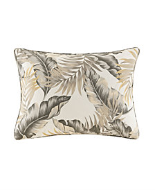 """Madison Park Coco 14"""" x 20"""" Printed Leaf 3M Scotchgard Outdoor Oblong Pillow"""