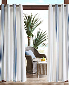 "Madison Park Newport 54"" x 108"" Grommets Printed Stripe 3M Scotchgard Outdoor Panel"