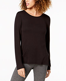 Ideology Cutout-Back Long-Sleeve T-Shirt, Created for Macy's