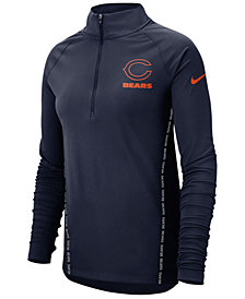 Nike Women's Chicago Bears Element Core Half-Zip Pullover