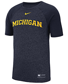 Nike Men's Michigan Wolverines Marled Raglan T-Shirt