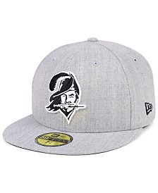 New Era Tampa Bay Buccaneers Heather Black White 59FIFTY FITTED Cap