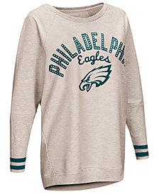Touch by Alyssa Milano Women's Philadelphia Eagles Backfield Long Sleeve Top