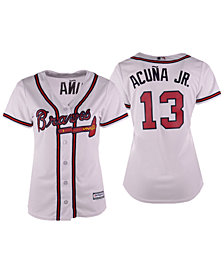 Majestic Women's Ronald Acuña Jr. Atlanta Braves Cool Base Player Replica Jersey