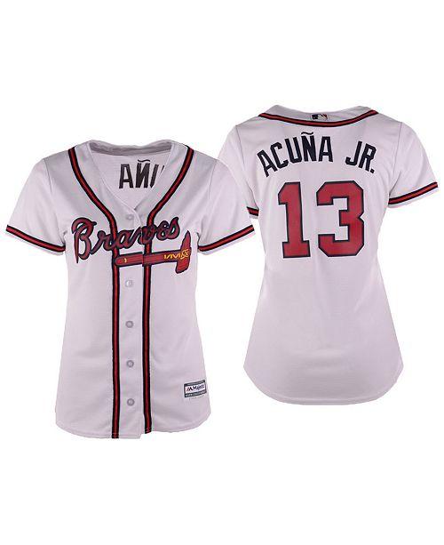 the latest 34074 71364 Majestic Women's Ronald Acuña Jr. Atlanta Braves Cool Base ...