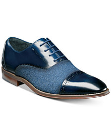 Stacy Adam's Men's Barrington Cap-Toe Leather Oxfords