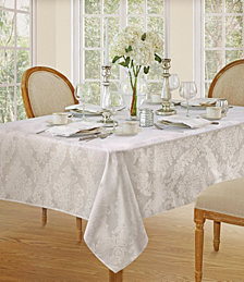 Elrene Barcelona White Table Linen Collection