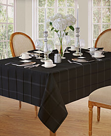 Elrene Elegance Plaid Black Table Linen Collection