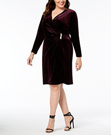 Calvin Klein Plus Size Velvet Sheath Dress