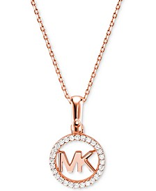 Women's Custom Kors Sterling Silver Logo Starter Necklace