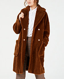 Weekend Max Mara Furry Button-Front Jacket
