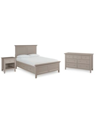 Sanibel Storage Bedroom Furniture, 3-Pc. Set (Full Bed, Nightstand, and Dresser), Created for Macy's