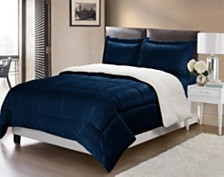 Ultimate Luxury Reversible Micromink and Sherpa Bedding Comforter Set Collection