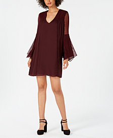 Avec Les Filles Lace-Sleeve Shift Dress