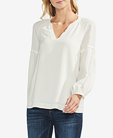 Vince Camuto Drop-Sleeve Split-Neck Top