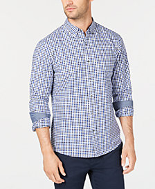 Michael Kors Men's Slim-Fit Check Shirt, Created for Macy's