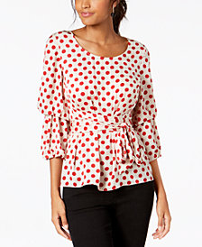 I.N.C. Dot-Print Top, Created for Macy's