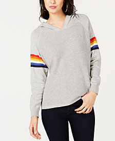 I.N.C. Rainbow-Stripe Pullover Hoodie, Created for Macy's