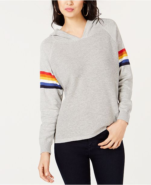 INC International Concepts I.N.C. Rainbow-Stripe Pullover Hoodie, Created for Macy's