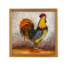 4-Piece Rooster 4 Inch Coaster Set