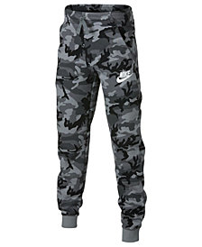 Nike Big Boys Camo-Print Fleece Joggers