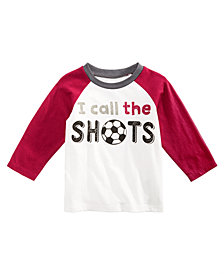 First Impressions Toddler Boys Call the Shots Graphic Cotton T-Shirt, Created for Macy's