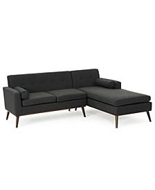 "Lydia 55"" 2-Pc. Sectional Sofa Set"