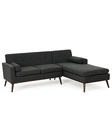 Lydia 2-Pc. Sectional Sofa Set, Quick Ship
