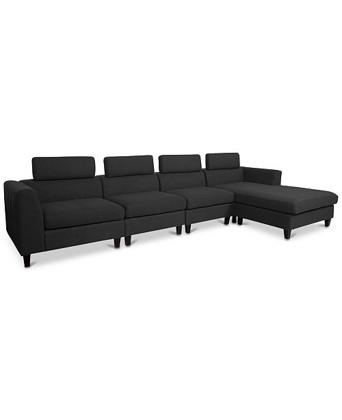 Awe Inspiring Noble House Madison 4 Pc Sectional Chaise Sofa Set Quick Squirreltailoven Fun Painted Chair Ideas Images Squirreltailovenorg