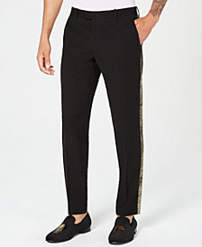 I.N.C. Men's Slim-Fit Gold Stripe Pants, Created for Macy's