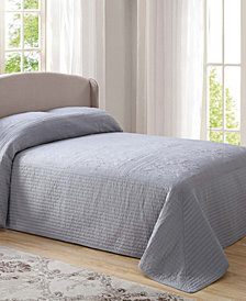 French Tile Quilted Full Bedspread