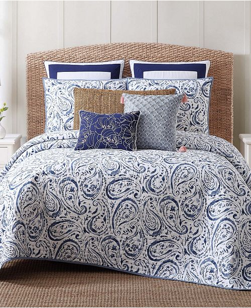 Oceanfront Resort Indienne Paisley King Quilt Set