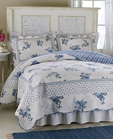 Rose Blossom Blue Quilt Collection