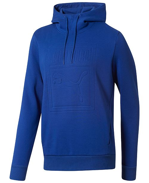 146e10be2e26 Puma Men s Embossed-Logo Fleece Hoodie   Reviews - Hoodies ...
