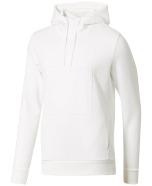 c7d3a822ffd7 Puma Men S Embossed-Logo Fleece Hoodie In White