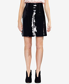 Vince Camuto Faux-Patent-Leather Mini Skirt
