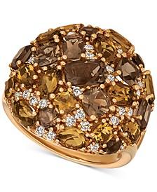 Multi-Gemstone (4-5/8 ct. t.w.) & Diamond (3/8 ct. t.w.) Ring in 14k Gold