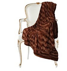 Luxe Embossed Micro Mink Full/Queen Faux Fur Blanket