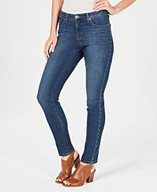 Style & Co Petite Studded Tummy-Control Jeans, Created for Macy's