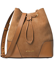 MICHAEL Michael Kors Cary Suede Bucket Crossbody