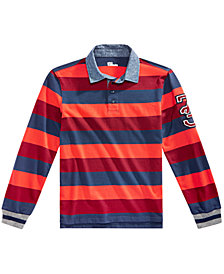Epic Threads Big Boys Striped Rugby Polo, Created for Macy's