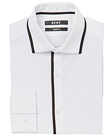 DKNY Big Boys Trim Tuxedo Shirt