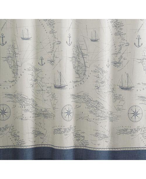 Tommy Bahama Home Caribbean Sea Shower Curtain