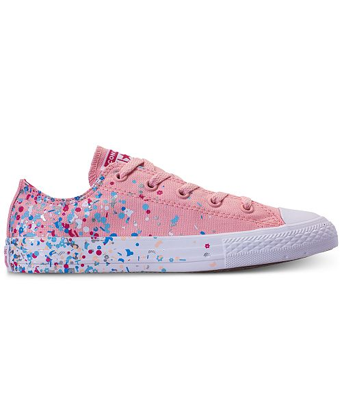 ... Converse Girls  Chuck Taylor All Star Ox Confetti Casual Sneakers from  Finish ... fd4a9bd78