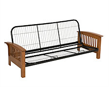 Serta Monaco futon frame Queen- English oak