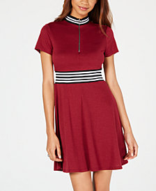 Be Bop Juniors' Varsity Stripe Fit & Flare Dress