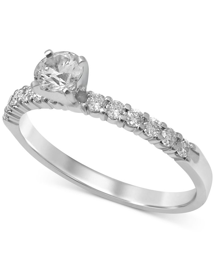 Macy's - Diamond Engagement Ring (1/2 ct. t.w.) in 14k White Gold