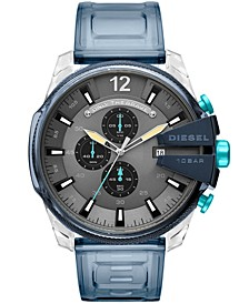 Men's Chronograph Mega Chief Blue Polyurethane Strap Watch 51mm