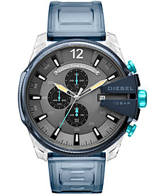 Diesel Men's Chronograph Mega Chief Blue Polyurethane Strap Watch 51mm